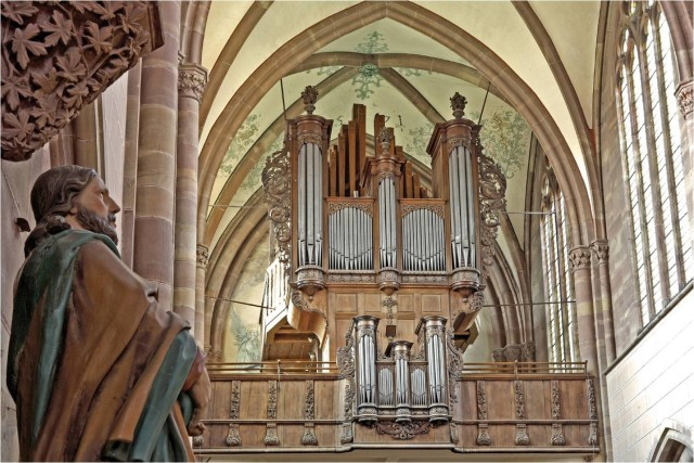 Photo de l'orgue Silbermann de MARMOUTIER (Concerts des Estivales)