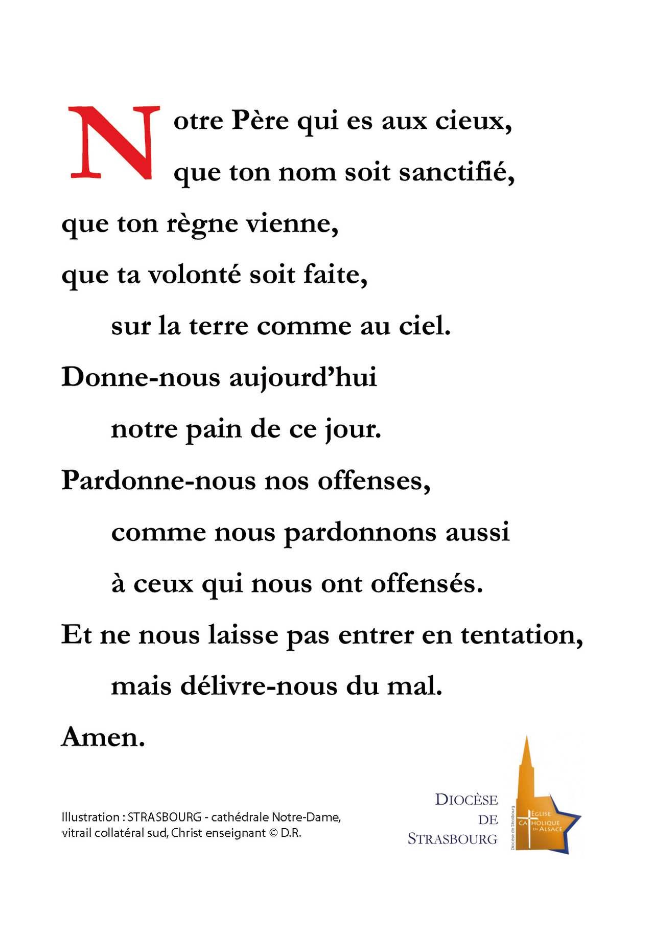 Extrem Notre Père - Diocèse de Strasbourg TZ07