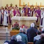 Concélébration des funérailles de Marie Colette Dollmann à Koetzingue