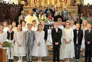 1ère communion 17 juin 2016 église de St Blaise