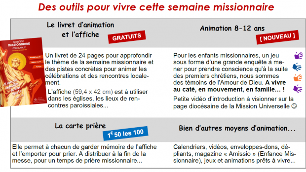 outils semaine missionnaire