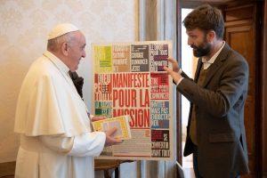 Rencontre pape François et Raphaël Cornu-Thénard